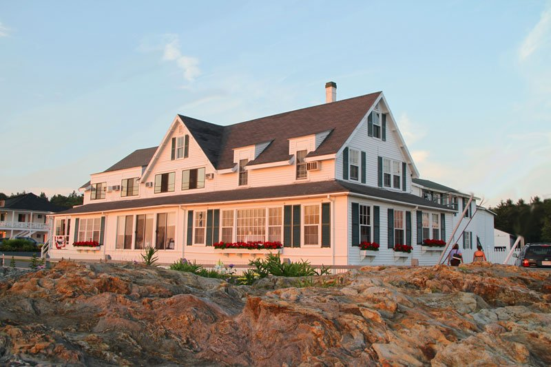 Oceanfront Inn at dusk