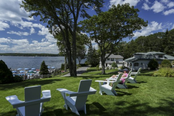 Adirondack Chairs at Spruce Point Inn Resort, Maine