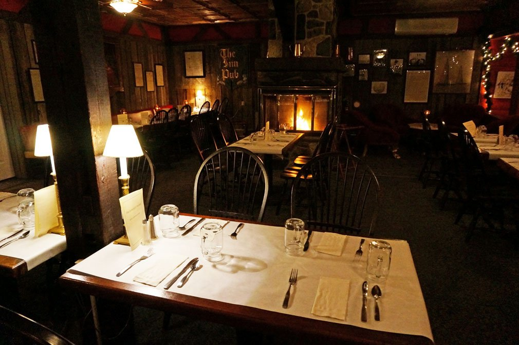 Enjoy drinks or a meal in our rustic Tavern