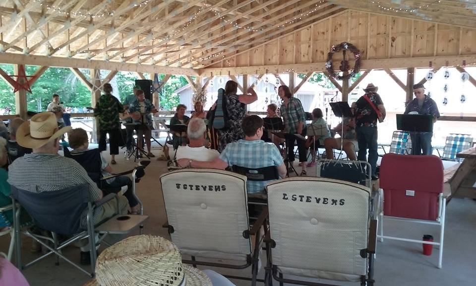 Strumdingers performing at Wake The Bear Bluegrass Picking Party.
