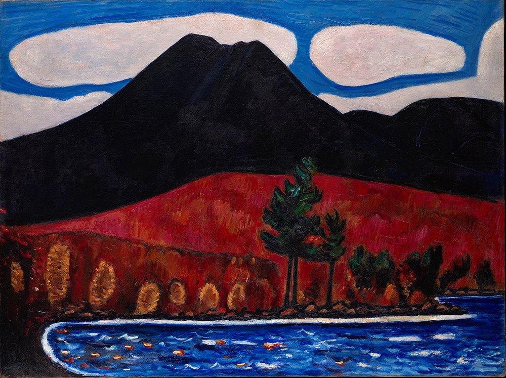 Marsden Hartley's Mount Katahdin, Autumn #2