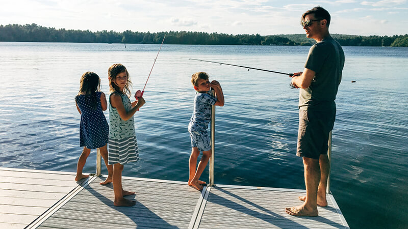 Kids under 16 do not need a license to fish.