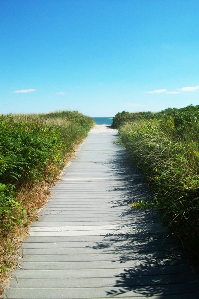 Pathway leading to Crescent Beach.