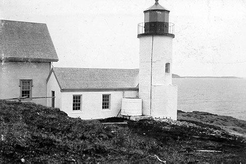 Historic US Coast Guard photo of Narraguagus (Pond Island) Light Station