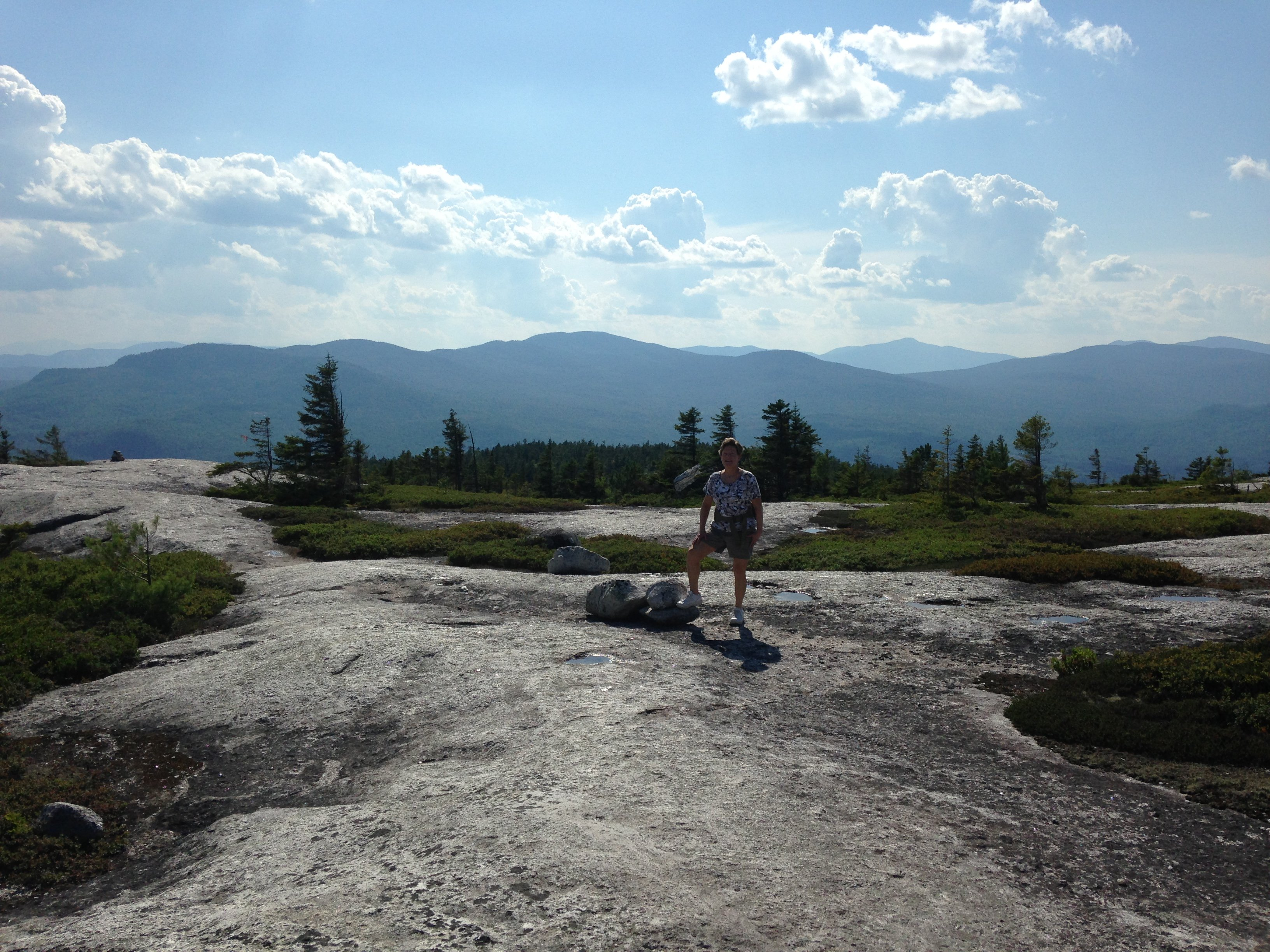 Top of Whitecap; favorite blueberry picking hike at end of July