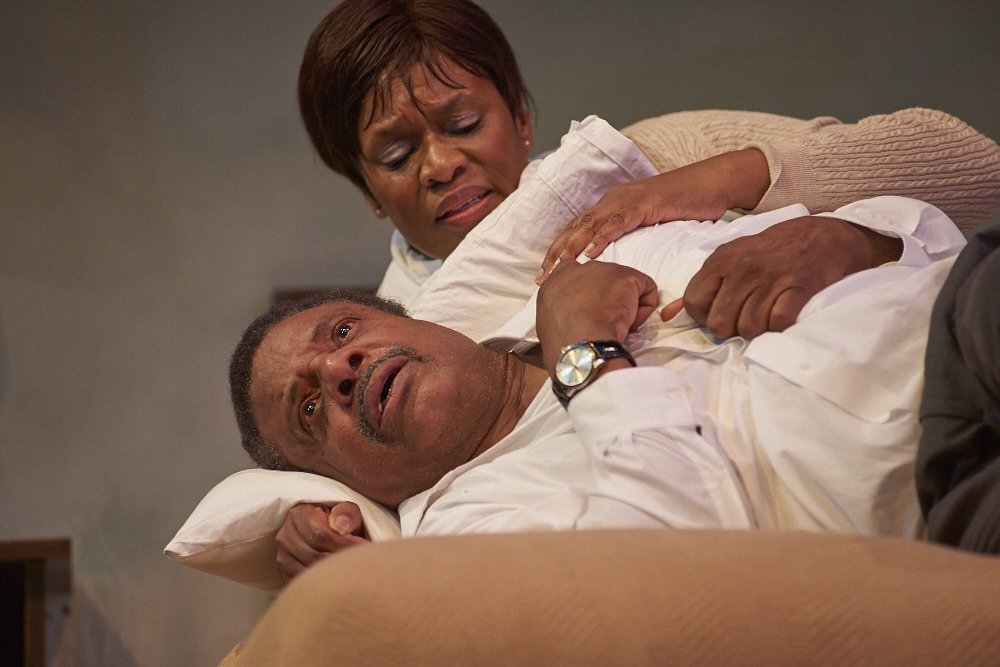 "Harvy Blanks* and Kim Stauton* in ""The Mountaintop"" by Katori Hall"