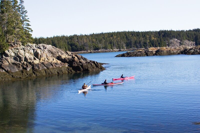 Sea kayaking in Maine