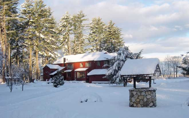 The Lodge during winter