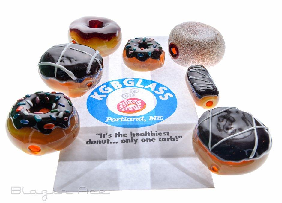 Glass Donuts by KGB Glass (Portland, Maine)