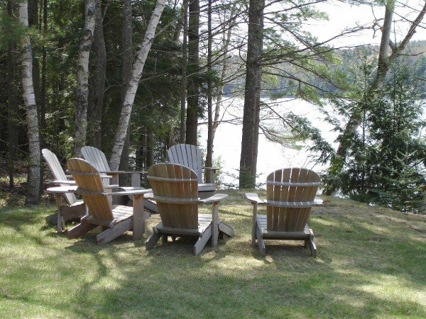 Water's Edge Retreat - Adirondack Chairs by Water's Edge. Great for relaxing conversation and watching working lobster boats, ospreys, bald eagles.