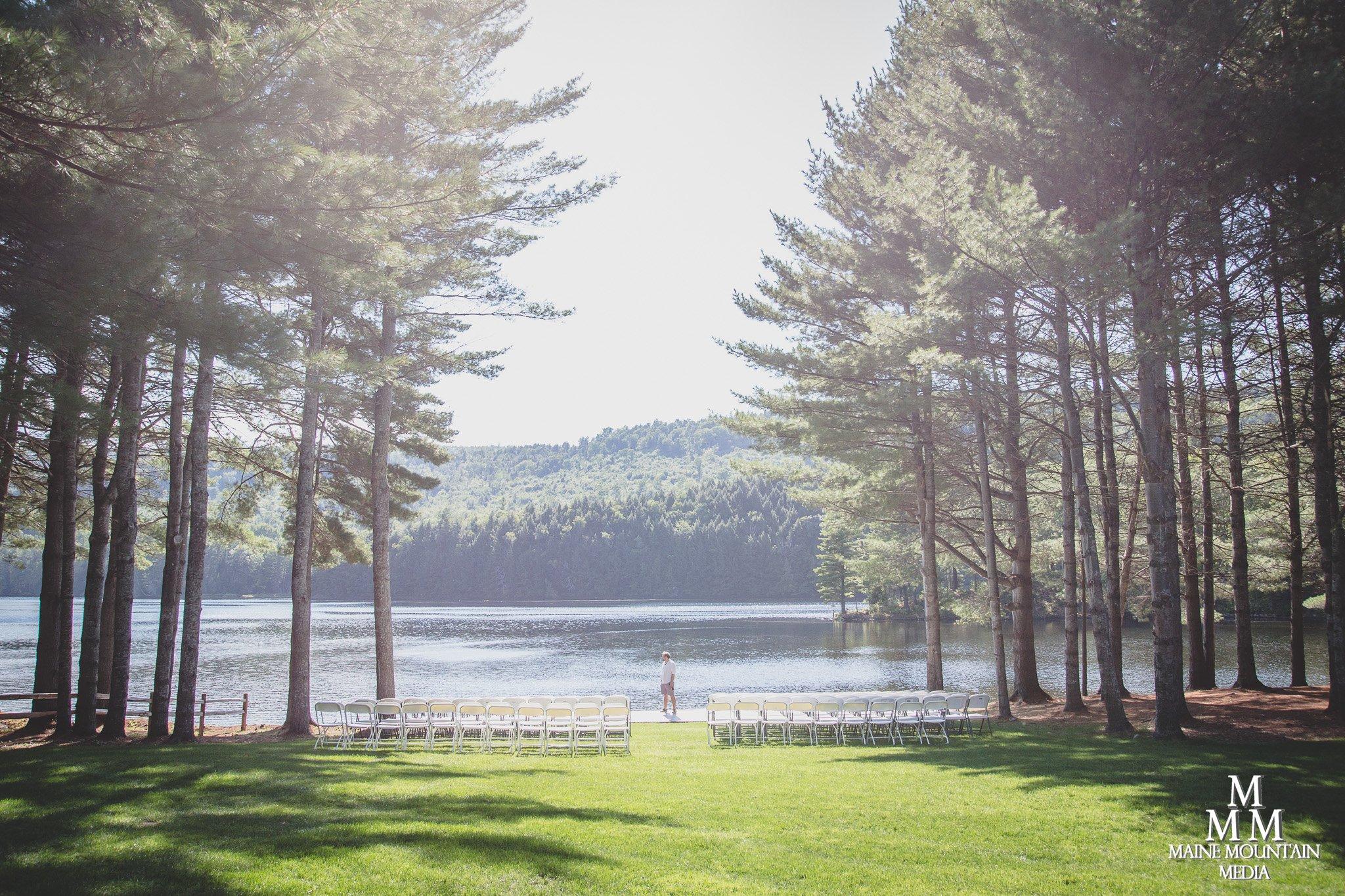 Nestled among the pines on Wyman Lake