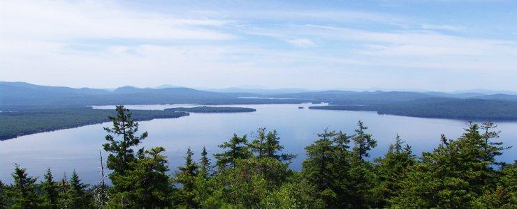 Rangeley Lake in Maine.