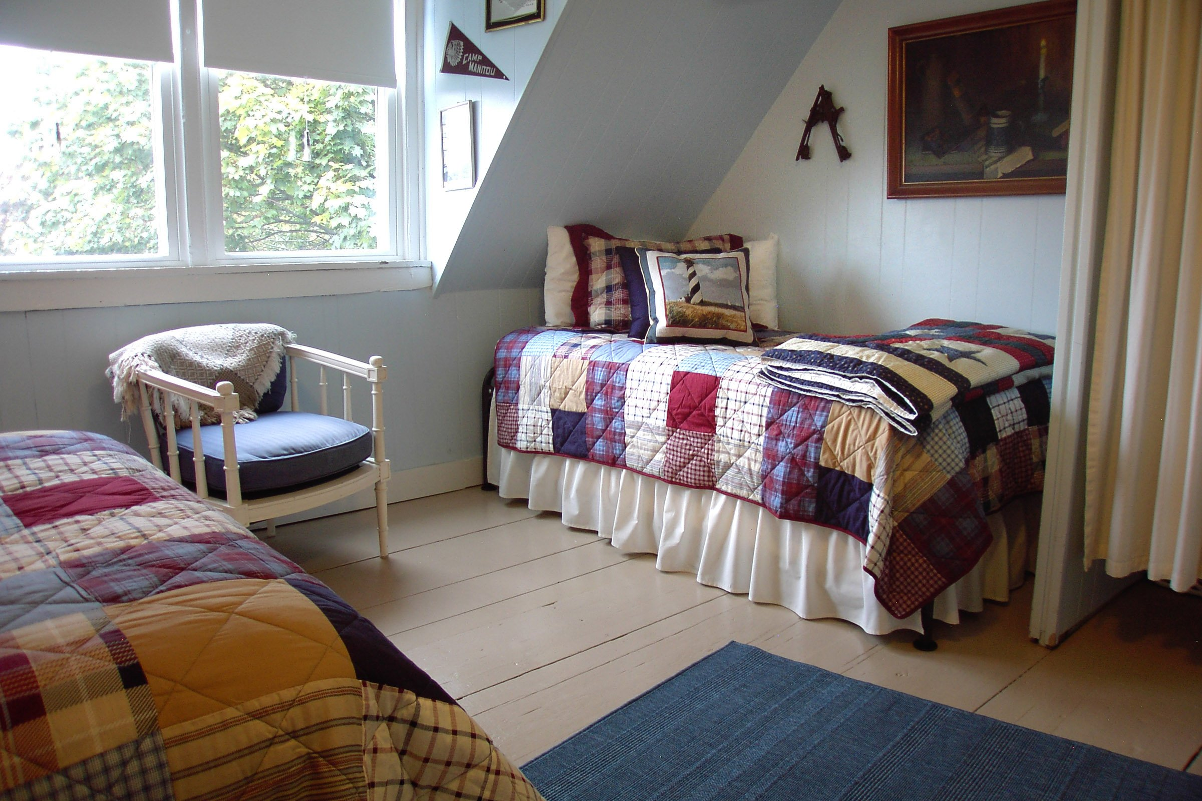 Guestroom #8, One double bed, one twin bed w/trundle