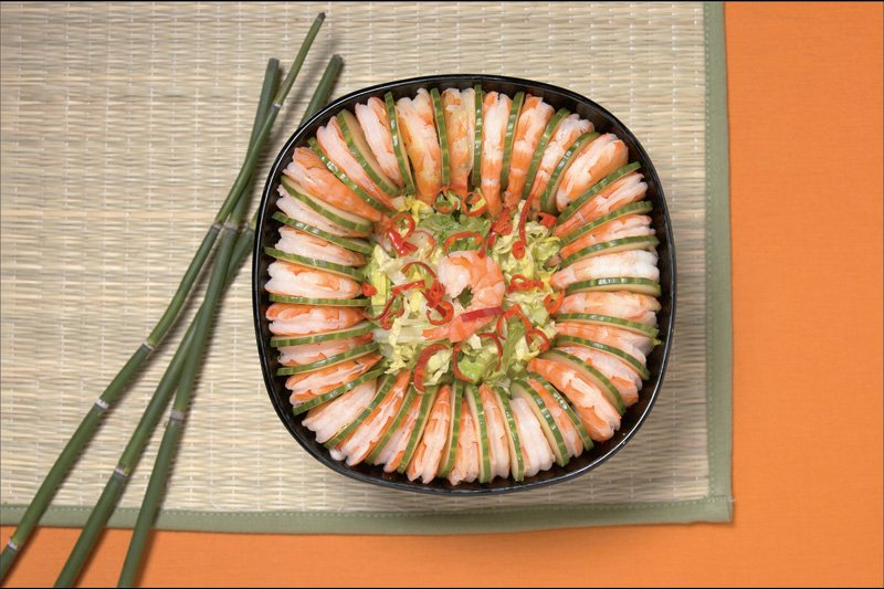 Cucumber & Shrimp Salad