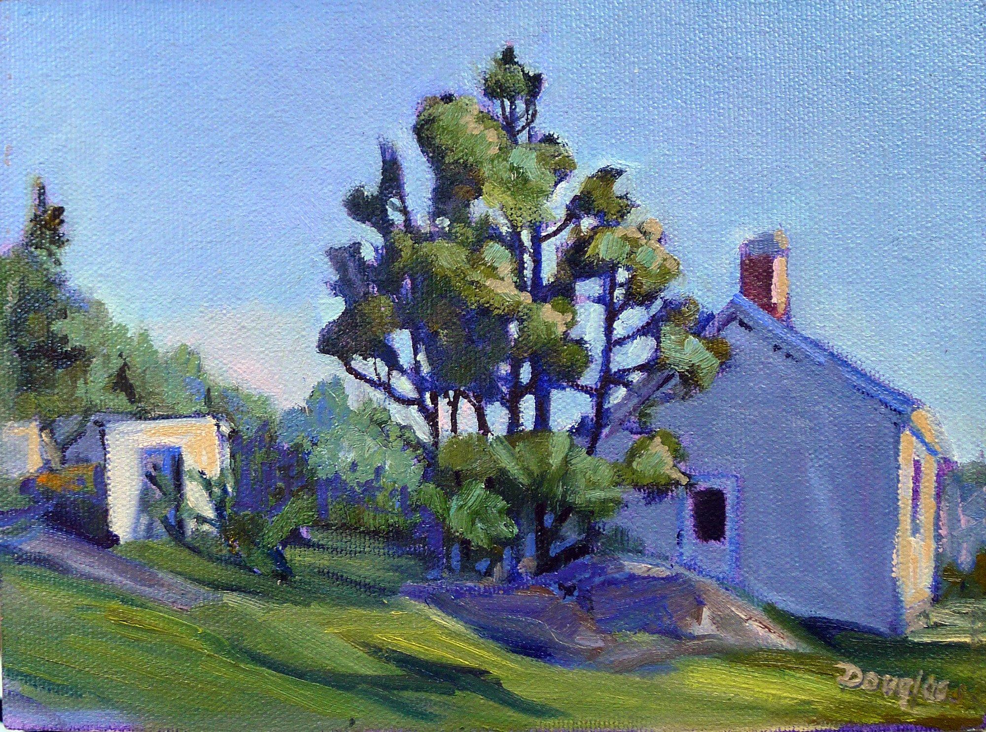 Schoolhouse, Monhegan, oil on canvas
