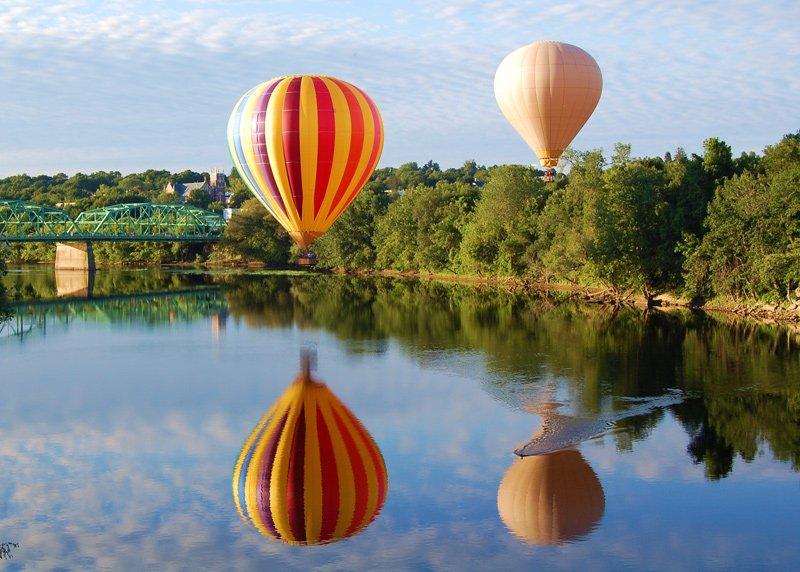 Balloon festival in Lewiston / Auburn.