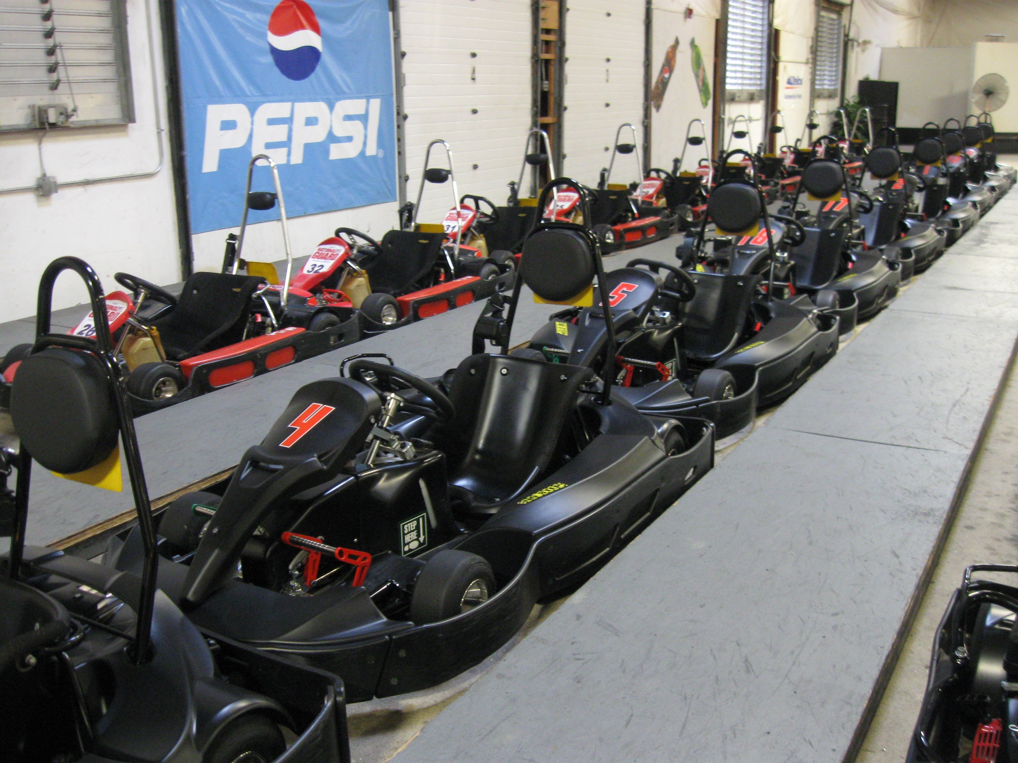 RED 5.5 HP JR KARTS & BLACK 6.5 HP ADULT KARTS