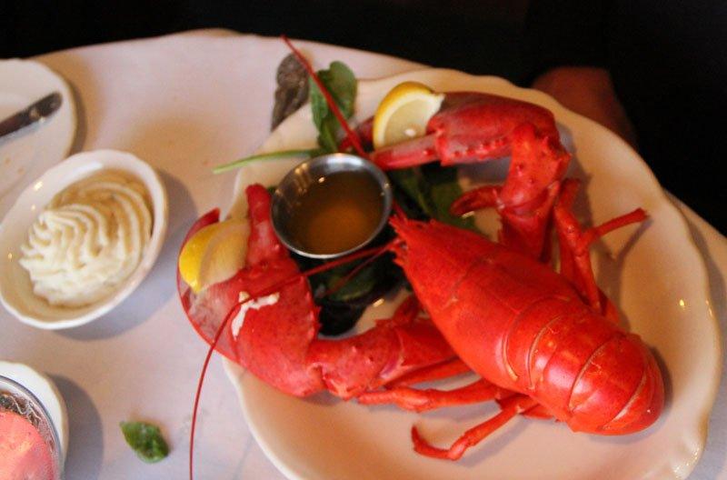 Classic lobster dinner