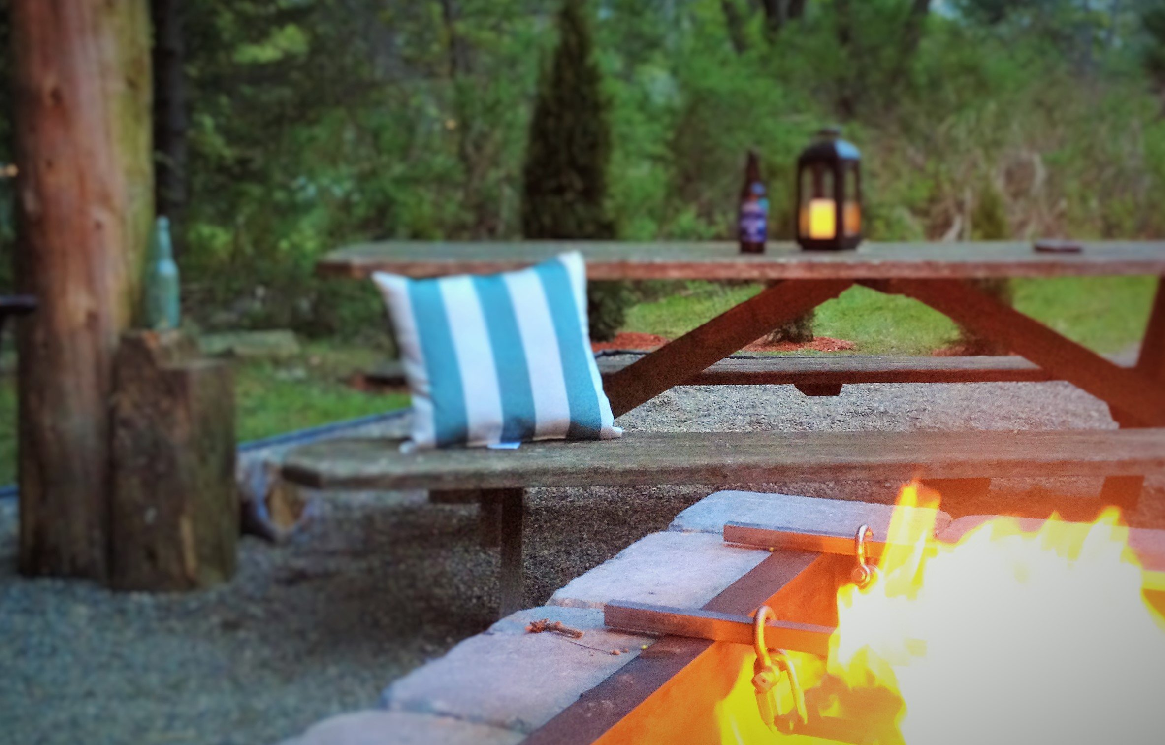 Come relax on the fire pit patio