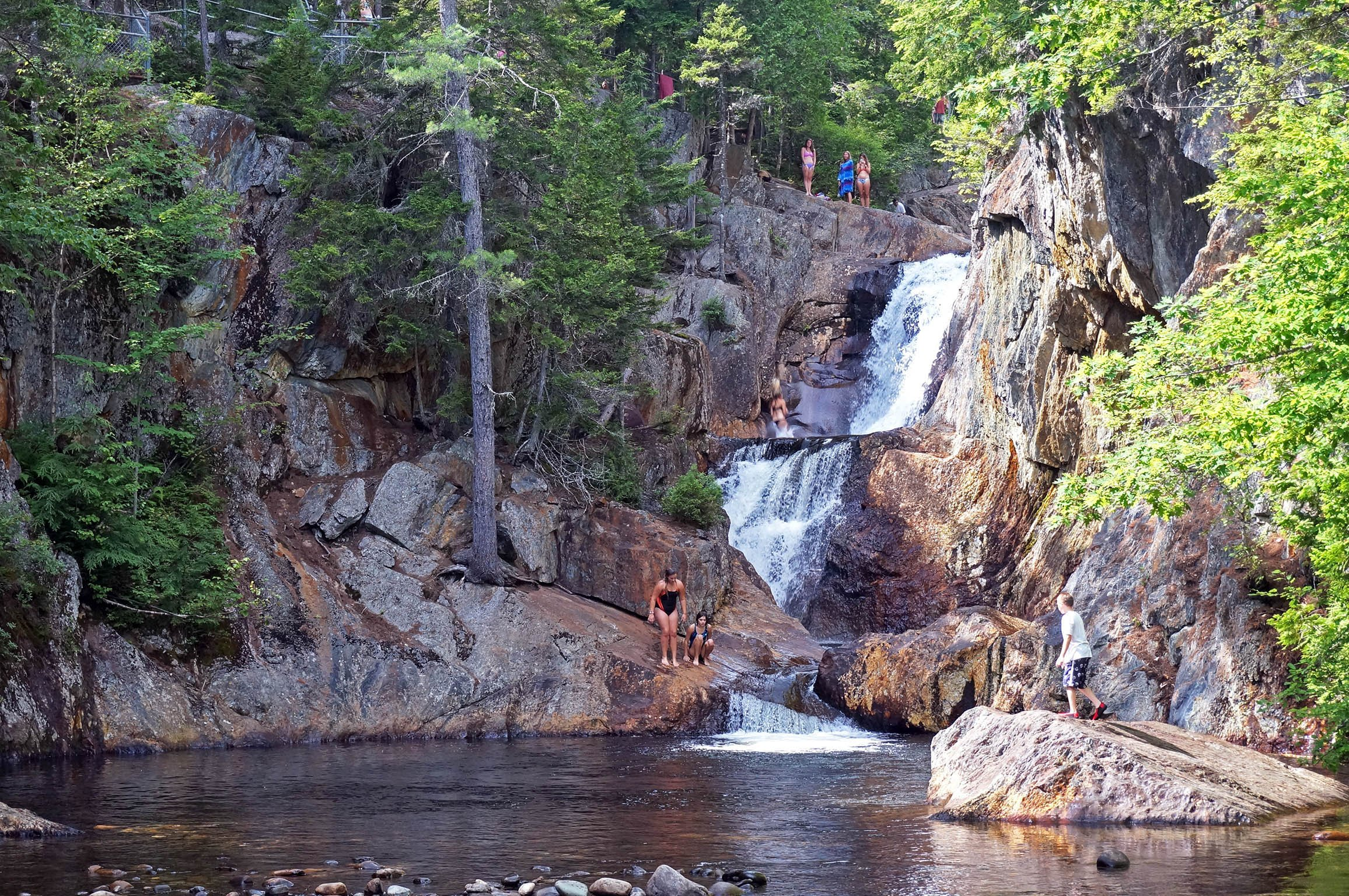 Smalls Falls, on Route 4 just south of Rangeley, is one of several waterfalls in the Rangeley Lakes region.