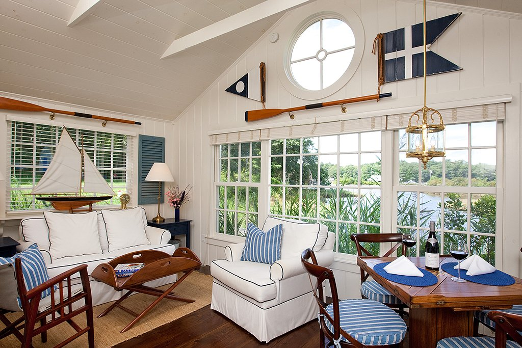 Living room of a Cabot Cove Cottage