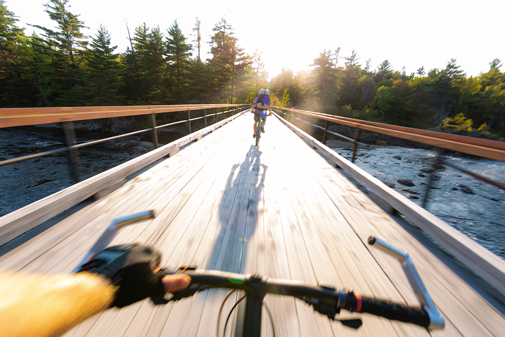 Biking through Katahdin Woods and Waters National Monument