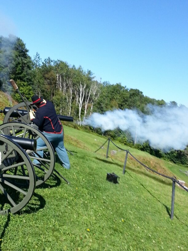 Civil War cannon firing at Fort Knox. One of many special events throughout season.