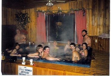 Largest indoor hot tub in the north woods!