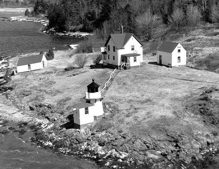 Historic photo of Squirrel Point Light Station