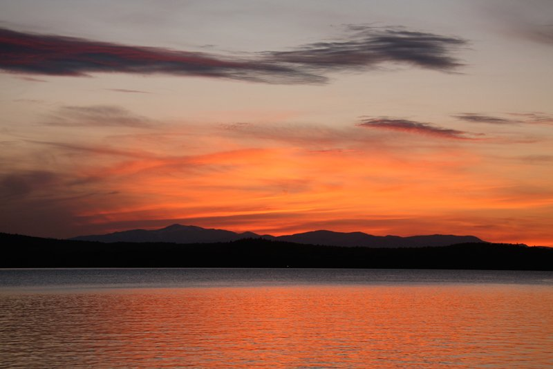 Long Lake sunset.