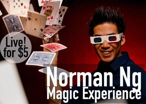 Live! for $5 Norman Ng Magic Experience at The Stonington Opera House