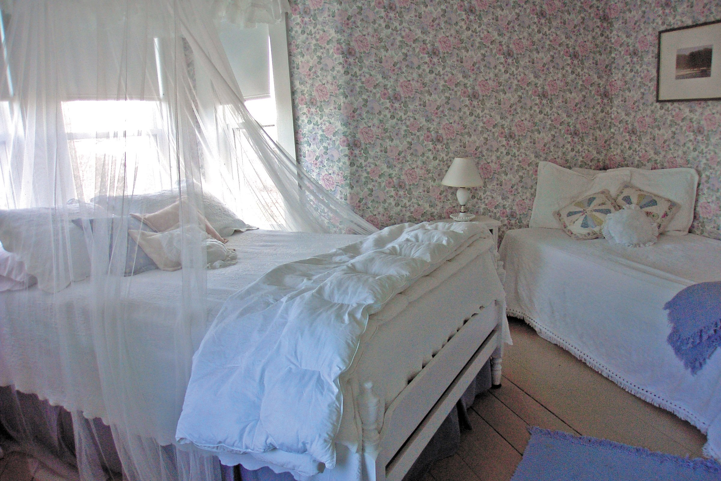 Guestroom #6, One double bed, one twin bed, private bath, ocean view
