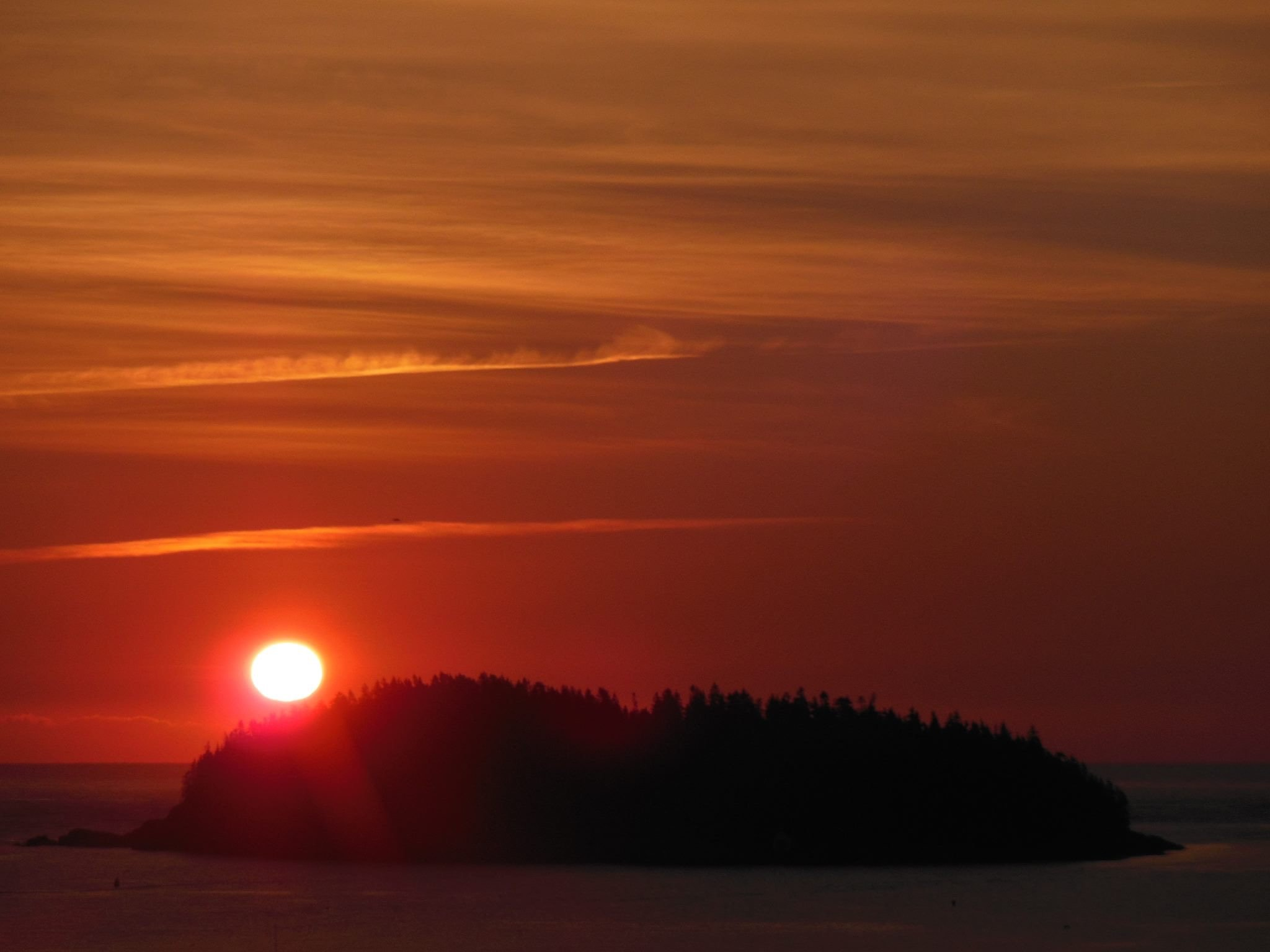 Sunrise from Harbor View Cottage deck