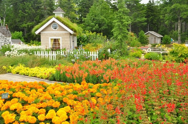 Rainbow Terrace at Bibby and Harold Alfond Children's Garden