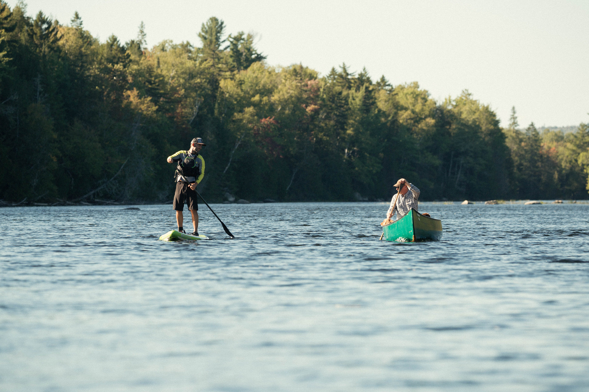Paddling on the Penobscot River
