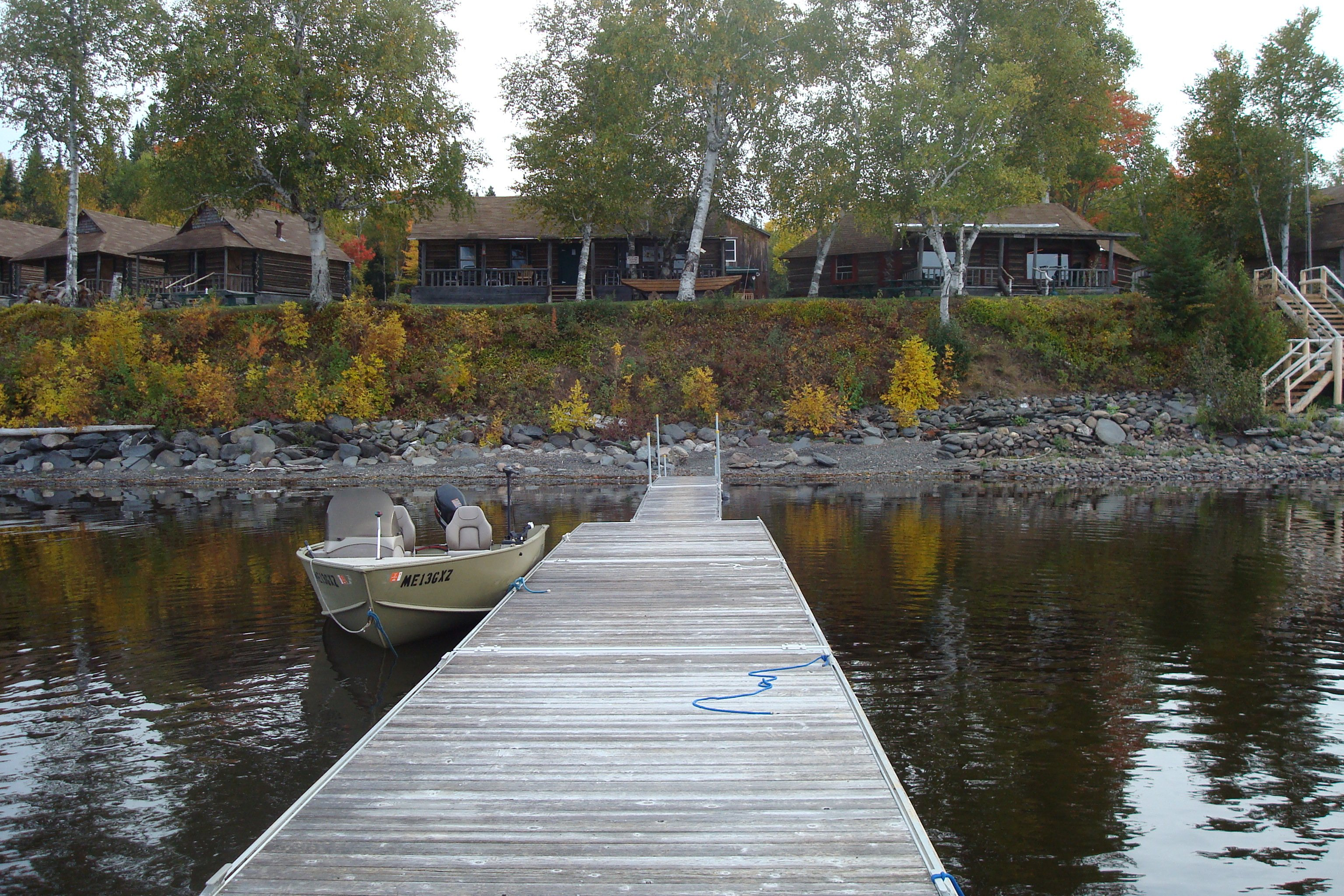 View from the lakeside dock