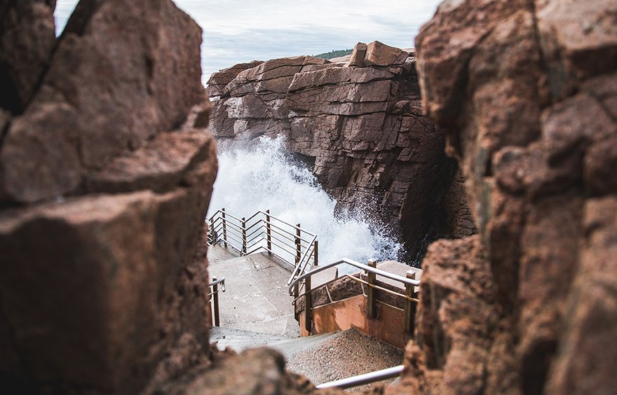 Thunder Hole in Acadia National Park
