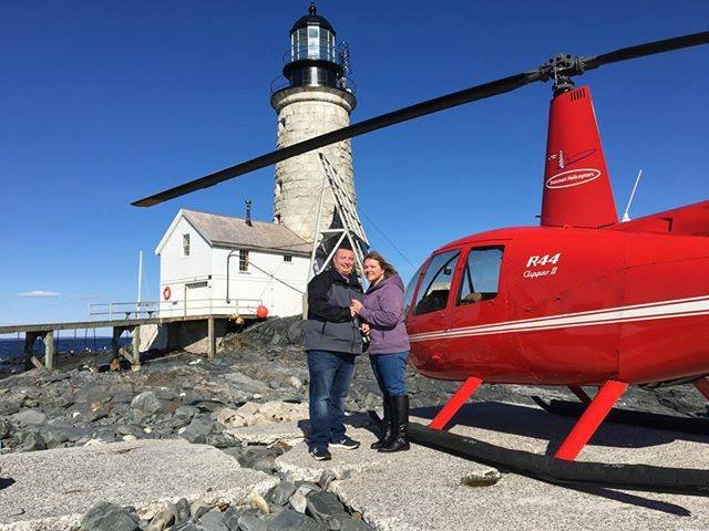 Helicopter tour of Halfway Rock
