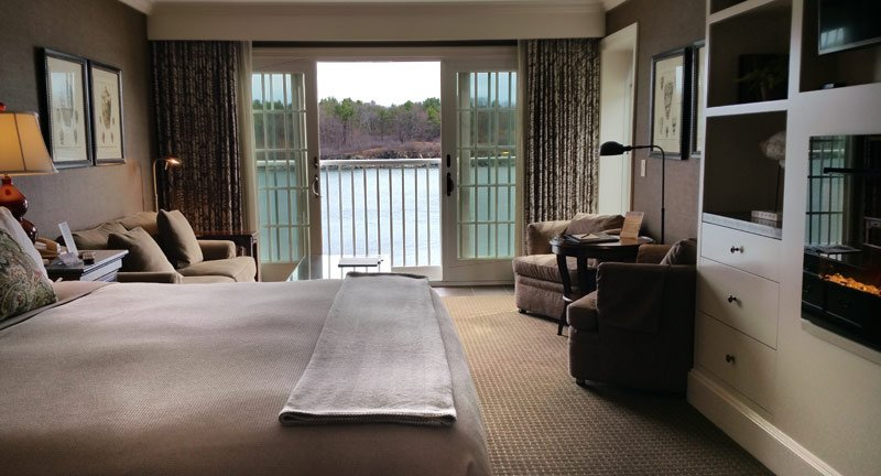 This is a Harborview Luxury King Guest Room. This particular room offers a larger seating area and Juliet Balcony. Most guest rooms offer a patio or balcony.