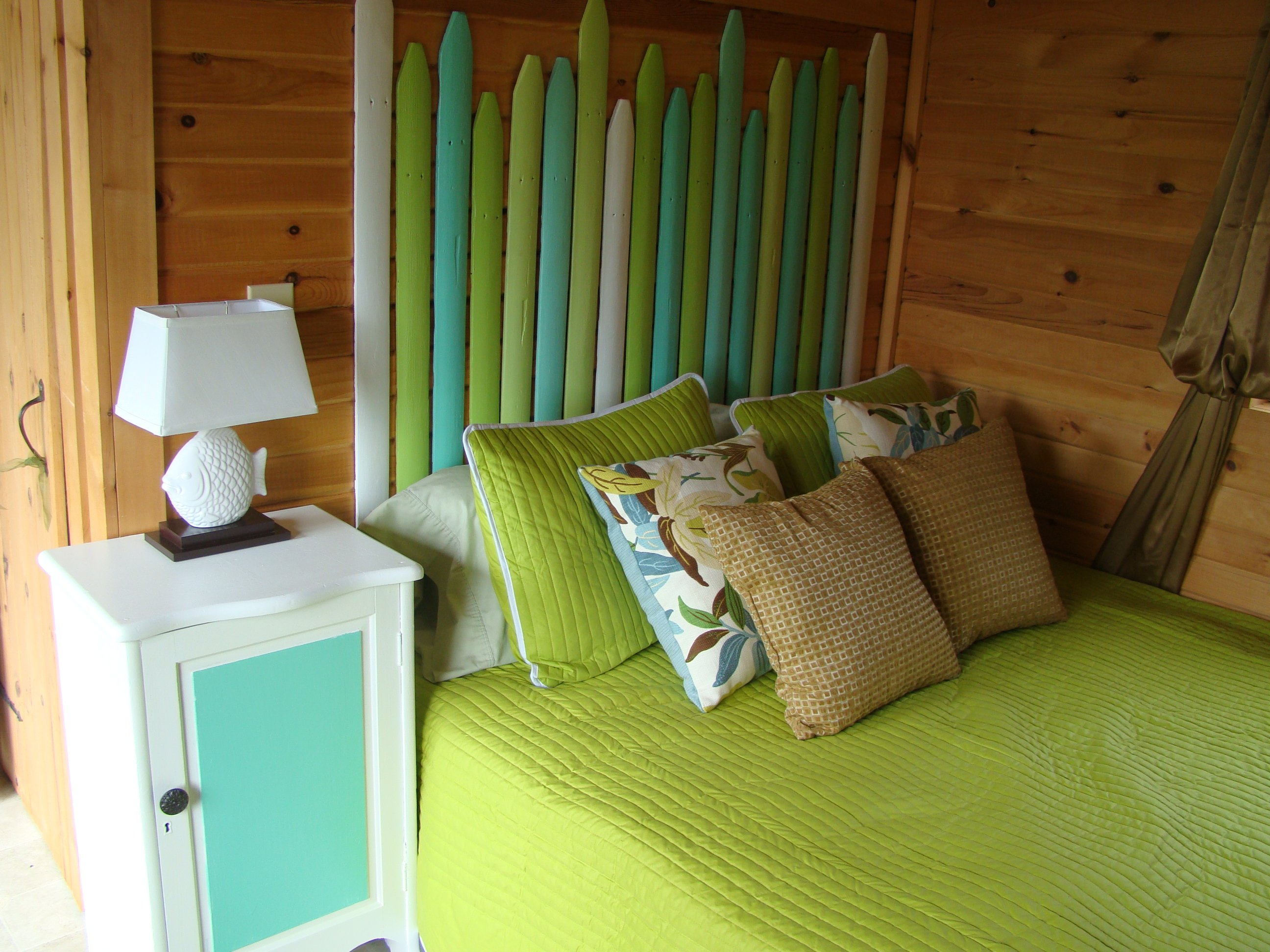 Interior of Cottage 4 - one bedroom cottage with queen bed