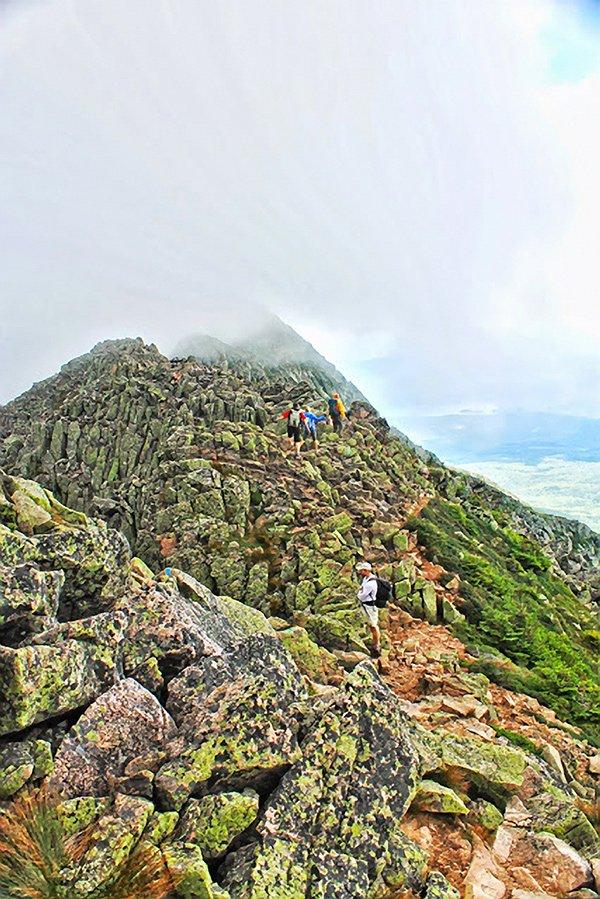 Rocky slope of Mount Katahdin.