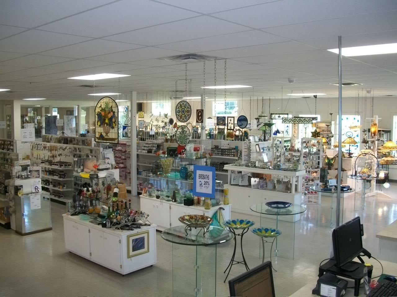 View of the showroom from the front entry way