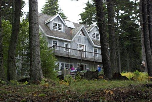 The lodge on Gay Island.