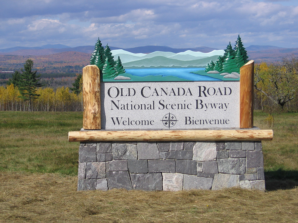 Old Canada Road National Scenic Byway sign