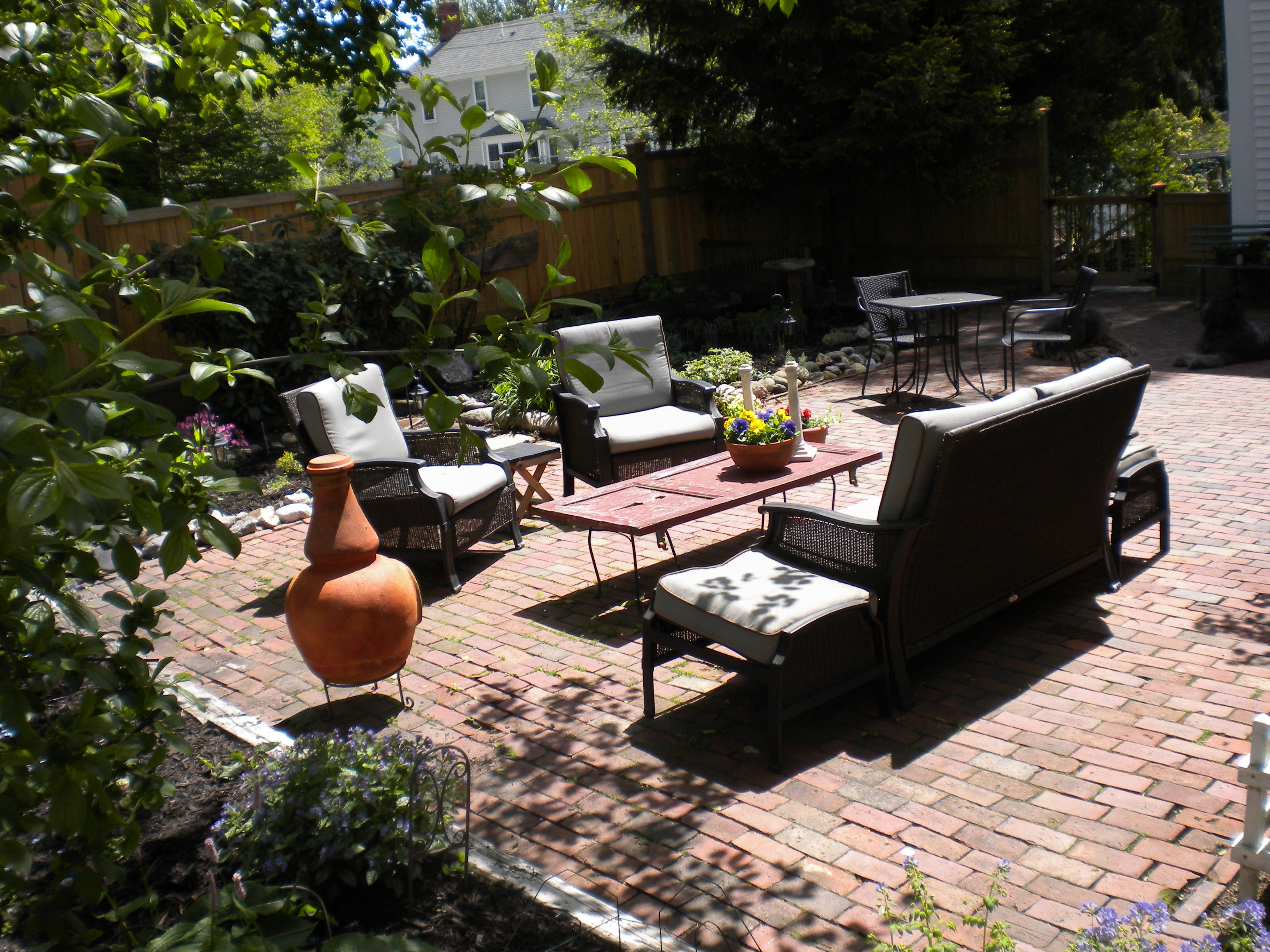 Our patio is open to guests and tea is served daily. (weather permitting)
