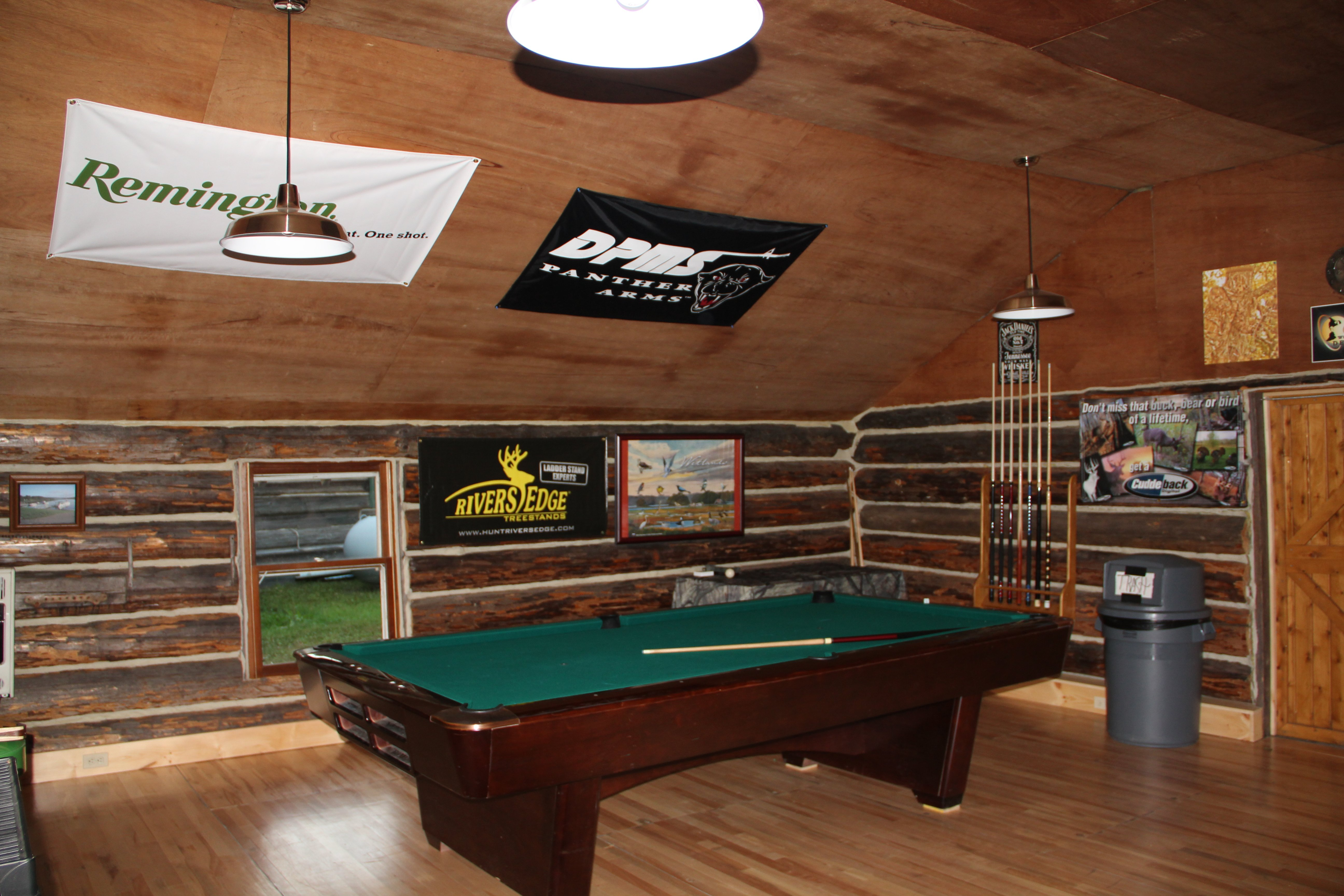 Pool table in the Rough Rider Lounge
