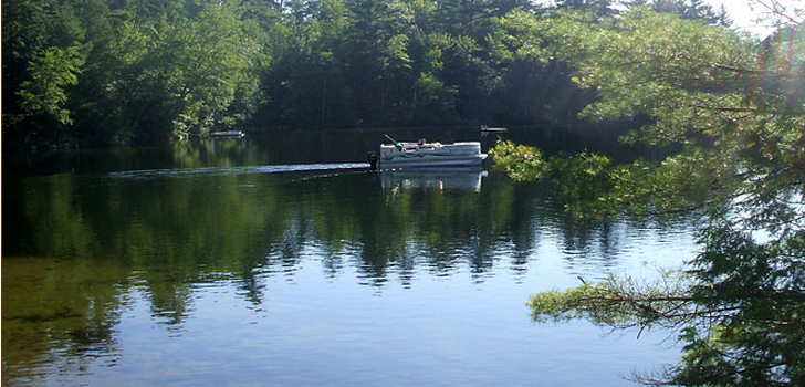 Enjoying the peace and serenity of a day on Echo Lake