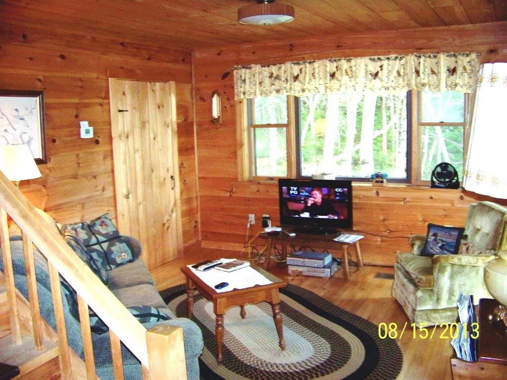 View of 2nd Living Room (TV Room) on Left of First Floor Front of Duck Cove Cottage
