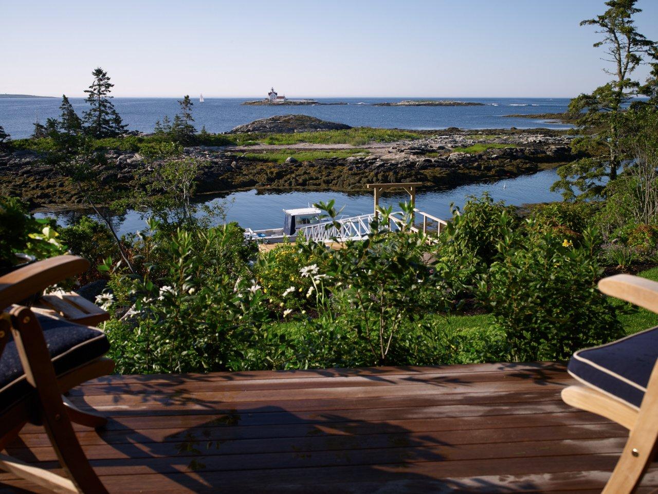 Cottage deck view