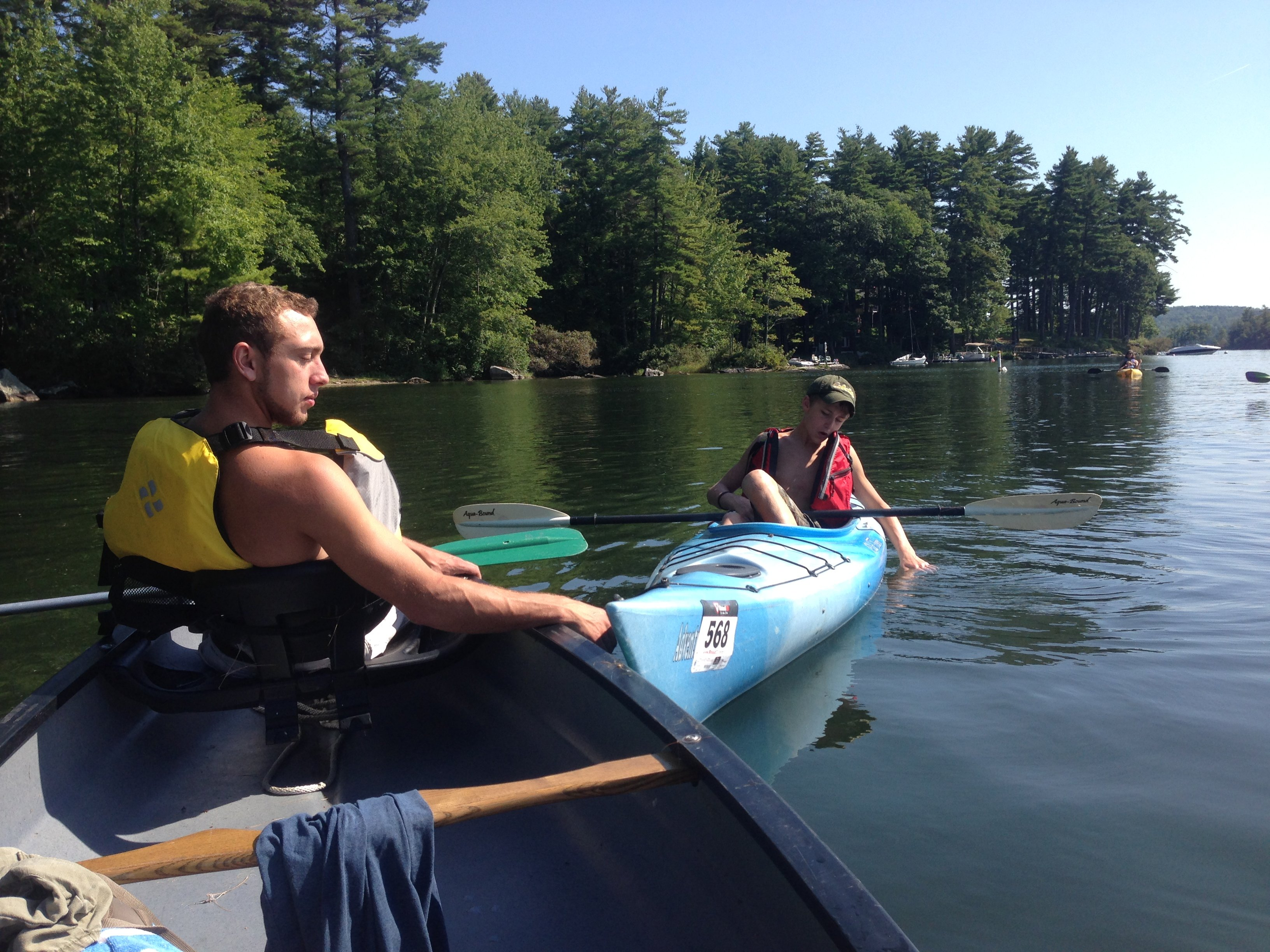 Friends of Cobbossee watershed 4th annual paddle race day